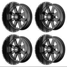 MOTO METAL MO962 MO96221268344N RIMS SET OF 4 20X12 -44MM OFFSET 6X5.5 G-BLACK