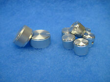 NEW Replacement DYNACO Knob Set - SILVER Machined Aluminum (PAS Tube Preamps)