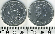 Bermuda 1964 - Bermuda Crown Silver Coin - Elizabeth II -Lion holding shield -#2