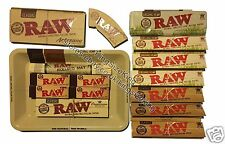 RAW Mini Rolling Tray + Kingsize Rolling Papers + Paper Tin + Tips + Bamboo Mat