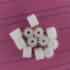 10pcs/lot Mini Plastic 122A Motor Shaft Gear Sets 12 Tooth 2mm Hole Diameter DIY