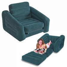 Intex sofa bed materasso gonfiabile divano letto poltrona singolo 68565 Verdone