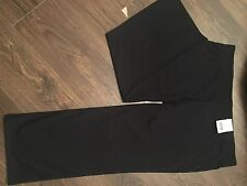 M&S Navy Trousers With Elasticated Waist Pull On Size 24 Short BNWT