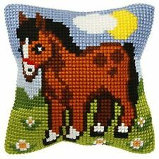 "Pony Cushion Cover 10"" x 10"" Cross Stitch Kit"