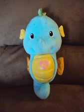 Seahorse Blue Fisher Price 2008 Soothe & Glow Musical Lullaby Ocean Wonders 11""