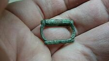 Nice little bronze medieval 12th/13th buckle L165