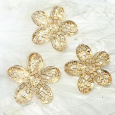 10pcs 25mm Champagne Acrylic flower flatback Scrapbooking for phone/Wedding .@