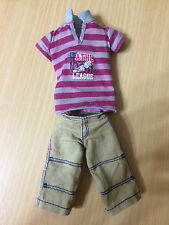 Barbie Fashionistas Sporty Ken Ryan Doll Outfit Striped T-shirt Top Shorts Rare
