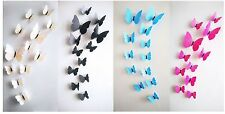 SALE: 48pc Decorative 3D butterfly wall stickers with Magnet, removable for Home