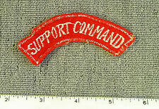 RARE U. S. Army Support Command tab (for 8th Army) embroidered on felt