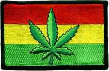 Cannabis Rasta Flag sew-on cloth patch  (mm)