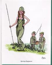 Bryn Parry Sporting Equipment fly fishing Greeting Card & envelope blank inside