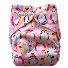 ALVAbaby washable reusable minky printed cloth Pocket diapers +1insert supersoft