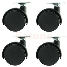 "Set of 4 1"" Swivel Plate Caster Nylon Wheel Chair Table Replacement Parts New"