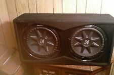 "KICKER COMP VR DCVR 12"" CAR SUBWOOFER IN CUSTOMED INCLOSURE"