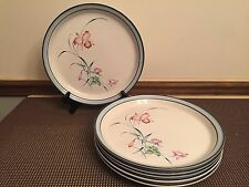 "Royal Prestige ""HANAKO"" Pattern #9406 ~ Set of 6 ~ Dinner Plates ~ 10 5/8"""