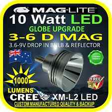 MAGLITE LED UPGRADE 3-6 D CREE 10W BULB GLOBE for TORCH FLASHLIGHT 3.6-9V 1000lm