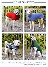 DOG COATS FOR WHIPPETS & GREYHOUNDS & SMALL DOG - NEW KNITTING PATTERN