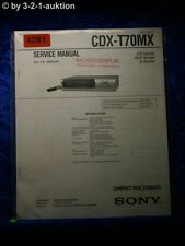 Sony Service Manual CDX T70MX CD Player (#4281)