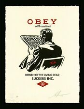 Shepard Fairey OBEY WITH CAUTION Letterpress SIGNED Print  We The People