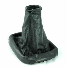 VAUXHALL VECTRA B TIGRA CALIBRA GEAR STICK GAITER BOOT BLACK LEATHER COVER