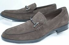 Tod's Men's Brown Shoes Loafers Slip On Drivers Size 10 Morsetto Tube Gomma NIB