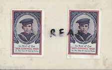 WW1 Fundraising Stamps Jack Cornwell Ward Star & Garter Home Jutland HMS Chester