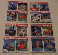 1986 Topps Baseball Box Bottoms Complete Uncut Set PETE ROSE REGGIE JACKSON FISK