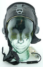 Soviet Authentic MiG Fighter Pilot Summer Leather Flight Helmet