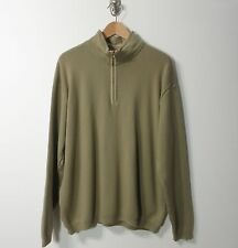 Paul & Shark Italy Wool beige half zip men's pullover sweater 2XL XXL