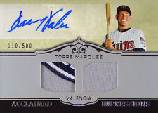 110/500 Danny Valencia Topps Auto Signed Autographed Jersey Patch Baseball Card