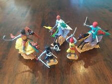 Timpo Mounted & Foot Medieval Knights (3) Toy Soldiers - 1970's