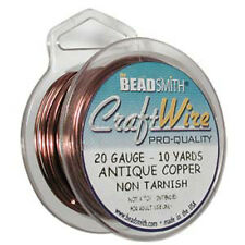 Antique Copper Color Wire Beadsmith 20 gauge 10yd 41649 Round