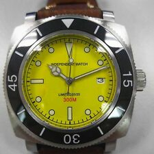 """Automatic Diver Wristwatch Limited Edition 20/20 """" Independent Watch"""" Yellow Dia"""