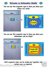 Reversible Clean and Dirty Magnetic Dishwasher Sign Set  (Dishwasher Buddy)