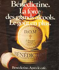 Publicité Advertising 1975  BENEDICTINE  digestif