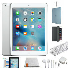 Apple iPad Air 1st Gen. 64GB, Wi-Fi, 9.7in - Silver - 8 in 1 Bundle Starter Kit