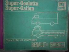 Saviem SG2 SG4 diesel : notice d'entretien ne102