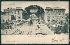 Torino città Stazione Treno cartolina XB4016