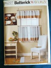 Butterick Pattern 6227 Kitchen Items table linens napkins clothes curtains
