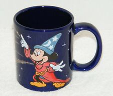 MICKEY MOUSE FANTASIA SORCERER BLUE COFFEE MUG BY LINYI HEADWIND GUC