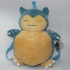 Pokemon go Snorlax  plush kids backpack shoulder bag zip bags cartoon doll new