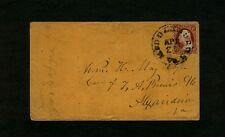 """#11 - 1850s Virginia """"MIDDLEBURG Va."""" to William H. May, c/o T. A. Brews in Alex"""