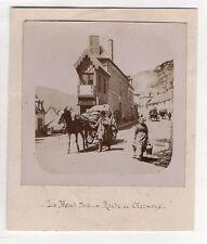 PHOTO ANCIENNE  LE MONT DORE DORÉ Route de Clermont Vers 1900 Voiture à cheval