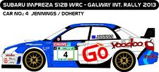 DECALS 1/43 SUBARU IMPREZA WRC - #4 - JENNINGS - RALLYE GALWAY 2013 - D43173