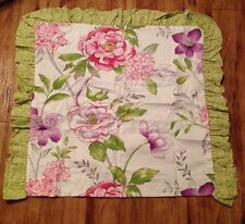 Rose Tree MARSEILLES COLLECTION Green Leopard & Floral Euro Sham $65