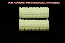 PAIR WHITE CHILDS BIKE/TRIKE/SCOOTER HANDLEBAR GRIPS 80mm KIDDIES CHILDREN CYCLE
