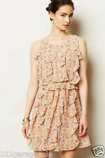 NEW Anthropologie  Senna Dress Sz 14 Ruffled Lightweigt Floral By Sachin & Babi