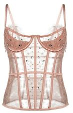 $328 Victorias Secret Designer Collection Swarovski Crystal Caged Bustier 32C