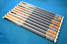"""SET OF 10 POOL CUES New 58"""" Canadian Maple Billiard Pool Cue Stick #6 FREE SHIP"""